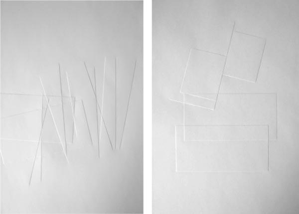 """""""Konstruktiv"""", 2008 (3 aus Reihe von 17 Arbeiten)"""